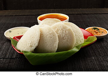 Delicious Indian food -idli - Homemade traditional South...