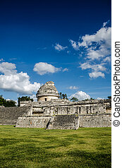 The Observatory - Astronomical building at Chichen Itza