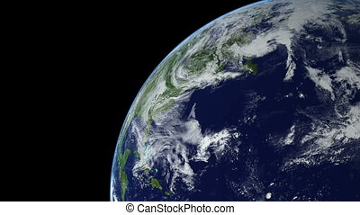 Seamless Loop Earth Animation 14 over northern hemisphere...
