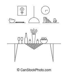 Home Interior Design concept. Dining room. - Home Interior...