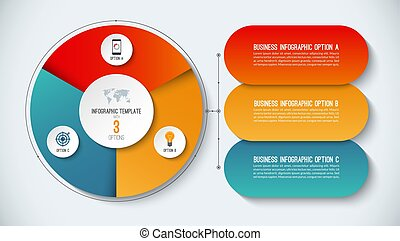 Infographic template. Vector illustration. Abstract banner with 3 steps, options.