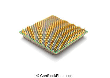 central processor on a white background