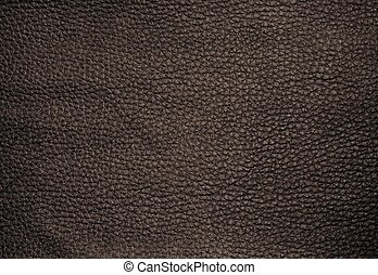 Close Up of Dark Brown Leather Texture Background