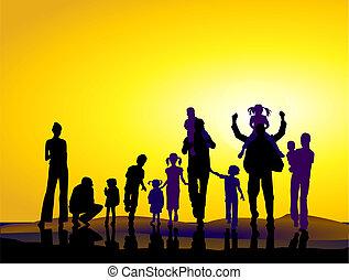 famílias, sundown