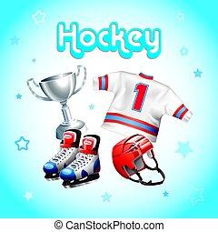 Hockey equipment kit