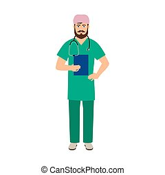 Immunologist medical specialist isolated vector illustration...