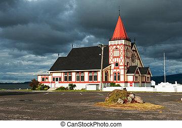 St. Faith's Anglican Church in Rotorua is an example of...