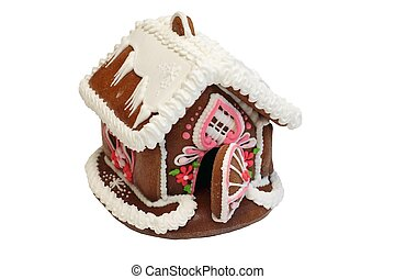 Christmas gingerbread house - Isolated gingerbread house...
