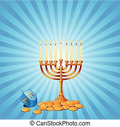 Hanukkah Background - Jewish festival of Hanukkah/Chanukah...