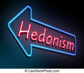 Hedonism neon concept. - Illustration depicting an...