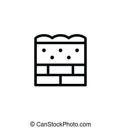 Wall insulation line icon isolated on white. Vector...