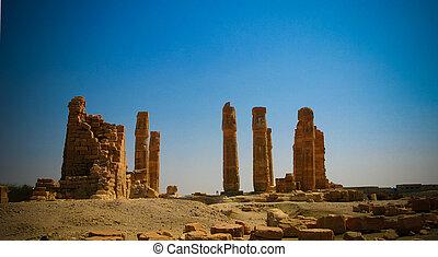 Ruines of Amun temple in Soleb, Sudan - Ruines of Amun...