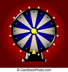 Wheel of Fortune - realistic vector modern image