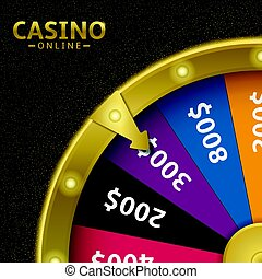 Wheel of fortune - Golden wheel of fortune. Casino online,...
