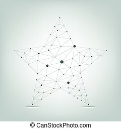 Abstract star shape - Abstract polygonal geometric star...