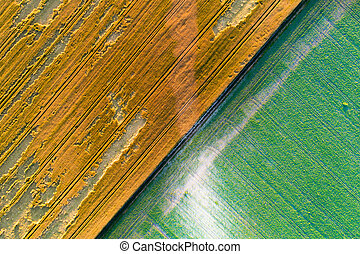Abstract image of fields shoot from drone