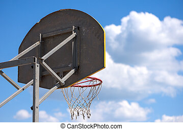 Street basketball ring. - Street basketball ring against the...