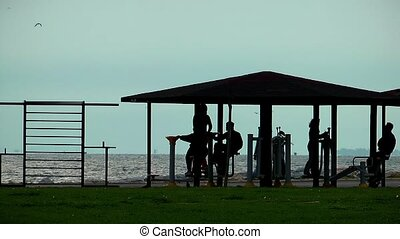 Public sport Training Activity area near the seaside