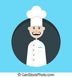 chef avatar in dark circle. concept of haute cuisine,...