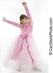 Girl Princess. - The girl the princess in a pink dress sits...