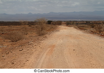 Country roads in the north of Kenya