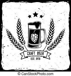 Vintage design for bar, pub and restaurant business. - Craft...