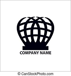 Design geometric logo for company on a white background