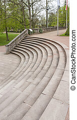 stairs in Fulda - stairs at a park in Fulda, a city in...