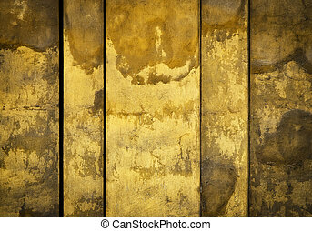 old ocher medieval wall - abstract background or texture old...
