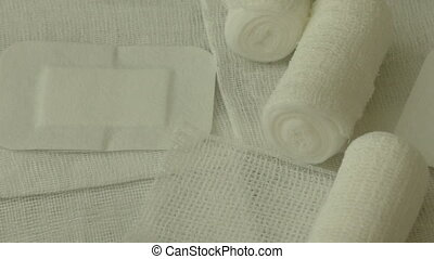 Medical bandages and gauze rolls