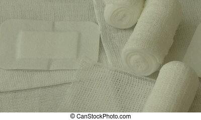 Medical bandages and gauze rolls