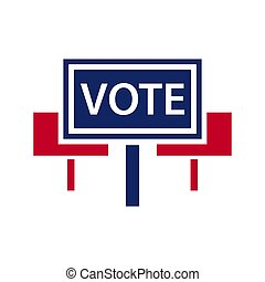 Election topic icon - Vector illustration of agitation...