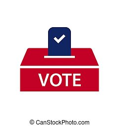 Election topic icon - Ballot box vector illustration with...