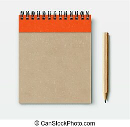 brown craft paper cover notebook