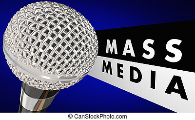 Mass Media Microphone Journalism Words 3d Illustration