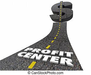 Profit Center Road Higher Sales Revenue Words 3d...