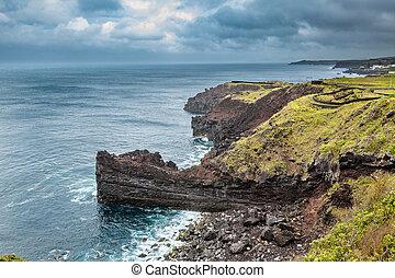 North coast of Sao Miguel Island, Atlantic Ocean. The island...