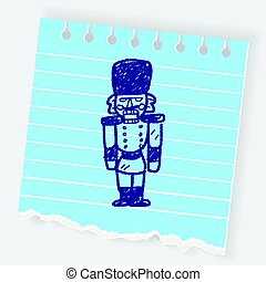 toy soldier doodle