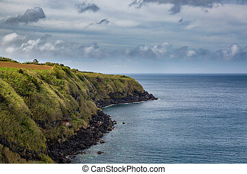 North Coast at Capelas on Sao Miguel Island