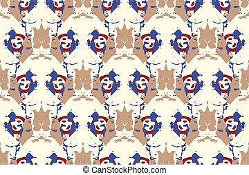 Vector tie dye seamless pattern. Hand drawn shibori print....