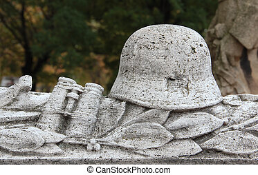 headstone - Unknown soldier tomb.