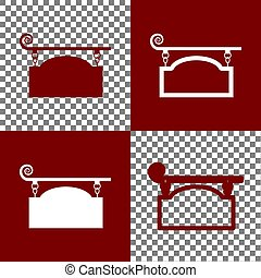 Wrought iron sign for old-fashioned design. Vector. Bordo...