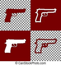 Ilustración, iconos, arma de fuego, señal, Plano de fondo,...