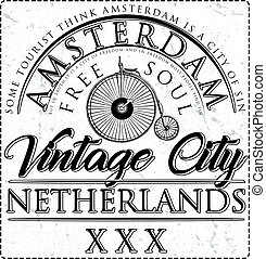 Typographic Amsterdam City Poster Design