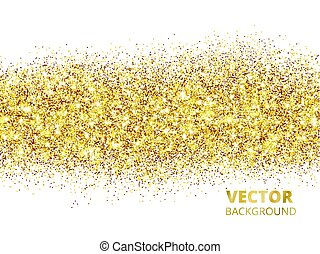 Sparkling glitter border isolated on white. Festive...
