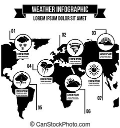 Weather infographic concept, simple style