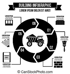Building infographic concept, simple style