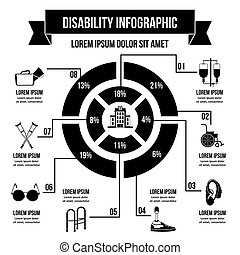 Invalid infographic concept, simple style