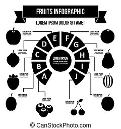 Fruit infographic concept, simple style