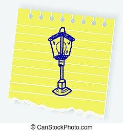 street lamp doodle